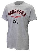 Nebraska Cow Tipping Team Tee Nebraska Cornhuskers, Cow Tipping Team Tee