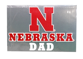 Nebraska Dad Decal Nebraska Cornhuskers, Nebraska Vehicle, Huskers Vehicle, Nebraska Stickers Decals & Magnets, Huskers Stickers Decals & Magnets, Nebraska Nebraska Dad Decal, Huskers Nebraska Dad Decal