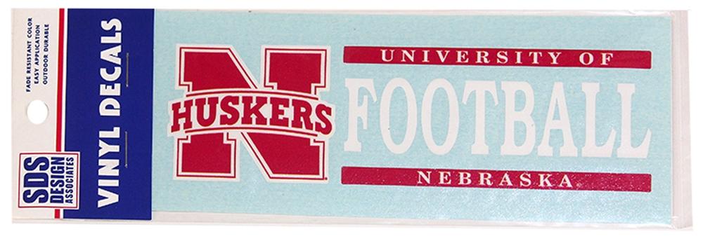 Nebraska Football Horizontal Decal