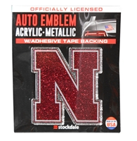 Nebraska Glitter Auto Emblem Nebraska Cornhuskers, Nebraska Vehicle, Huskers Vehicle, Nebraska Stickers Decals & Magnets, Huskers Stickers Decals & Magnets, Nebraska Nebraska Glitter Auto Emblem, Huskers Nebraska Glitter Auto Emblem