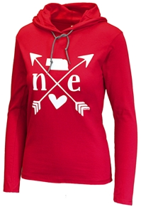 Nebraska Heart Ladies Lightweight Hoodie Nebraska Cornhuskers, Nebraska  Ladies Sweatshirts, Huskers  Ladies Sweatshirts, Nebraska  Hoodies, Huskers  Hoodies, Nebraska  Ladies, Huskers  Ladies, Nebraska Devaney Osborne N Frost Ladies Lightweight Hoodie, Huskers Devaney Osborne N Frost Ladies Lightweight Hoodie