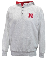 Nebraska Hooded Henley Fleece Jacket Nebraska Cornhuskers, Nebraska  Mens Outerwear, Huskers  Mens Outerwear, Nebraska  Mens, Huskers  Mens, Nebraska Nebraska Hooded Henley Fleece Jacket, Huskers Nebraska Hooded Henley Fleece Jacket