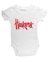 Nebraska Infant Hopper Onesie - White Nebraska Cornhuskers, Nebraska  Infant, Huskers  Infant, Nebraska Nebraska Infant Hopper Onesie - White, Huskers Nebraska Infant Hopper Onesie - White