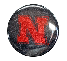 Nebraska Iron N Glitter Magnet Nebraska Cornhuskers, Nebraska Stickers Decals & Magnets, Huskers Stickers Decals & Magnets, Nebraska Nebraska Iron N Glitter Magnet, Huskers Nebraska Iron N Glitter Magnet