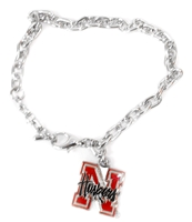 Nebraska Logo Bracelet Nebraska Cornhuskers, husker football, nebraska cornhuskers merchandise, nebraska merchandise, husker merchandise, nebraska cornhuskers apparel, husker apparel, nebraska apparel, husker womens apparel, nebraska cornhuskers womens apparel, nebraska womens apparel, husker womens merchandise, nebraska cornhuskers womens merchandise, womens nebraska accessories, womens husker accessories, womens nebraska cornhusker accessories,Charm Bracelet, Nebraska Logo Bracelet