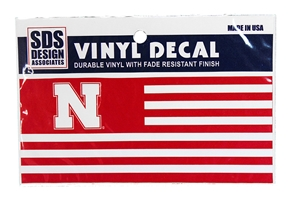 Nebraska N Red White Flag Bumper Decal Nebraska Cornhuskers, Nebraska Stickers Decals & Magnets, Huskers Stickers Decals & Magnets, Nebraska Vehicle, Huskers Vehicle, Nebraska Nebraska N Red White Flag Bumper Decal, Huskers Nebraska N Red White Flag Bumper Decal