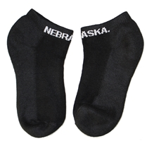 Nebraska No Show Black Sock Nebraska Cornhuskers, Nebraska  Footwear, Huskers  Footwear, Nebraska  Underwear & PJS, Huskers  Underwear & PJS, Nebraska  Ladies Accessories, Huskers  Ladies Accessories, Nebraska  Mens Accessories , Huskers  Mens Accessories , Nebraska Nebraska No Show Black Sock, Huskers Nebraska No Show Black Sock
