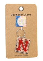 Nebraska Pet Collar Charm Nebraska Cornhuskers, Nebraska Pet Items, Huskers Pet Items, Nebraska Nebraska Pet Collar Charm, Huskers Nebraska Pet Collar Charm