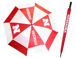 Nebraska Red Golf Umbrella 62 inch Nebraska cornhuskers, husker football, nebraska merchandise, husker merchandise, husker golf equipment, husker golf umbrella, nebraska golf umbrell, cornhuskers golf umbrella