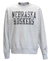 b66868f32 Nebraska Reverse Weave Champion Crew - Steel Nebraska Cornhuskers, Nebraska  Mens Sweatshirts, Huskers Mens