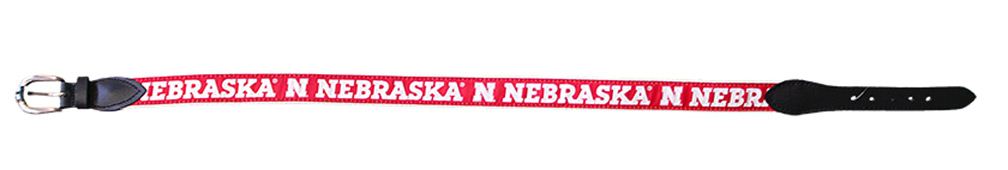 Nebraska Ribbon Belt Nebraska Cornhuskers, Nebraska  Mens Accessories, Huskers  Mens Accessories, Nebraska  Mens, Huskers  Mens, Nebraska  Watches Bands & Buckles, Huskers  Watches Bands & Buckles, Nebraska Nebraska Ribbon Belt, Huskers Nebraska Ribbon Belt