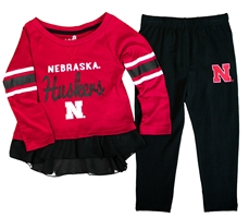 Nebraska Ruffle Formation Set Nebraska Cornhuskers, Nebraska  Childrens, Huskers  Childrens, Nebraska Nebraska Ruffle Formation Set, Huskers Nebraska Ruffle Formation Set