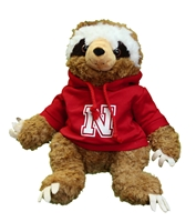 Nebraska Sloth Cuddle Buddy Nebraska Cornhuskers, Nebraska  Toys & Games, Huskers  Toys & Games, Nebraska Nebraska Sloth Cuddle Buddy, Huskers Nebraska Sloth Cuddle Buddy