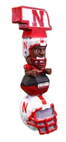 Nebraska Stacked Tiki Totem Nebraska Cornhuskers, Nebraska  Game Room & Big Red Room, Huskers  Game Room & Big Red Room, Nebraska  Novelty, Huskers  Novelty, Nebraska Nebraska Stacked Tiki Totem, Huskers Nebraska Stacked Tiki Totem