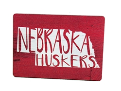 Nebraska State Wood Magnet Nebraska Cornhuskers, Nebraska Stickers Decals & Magnets, Huskers Stickers Decals & Magnets, Nebraska Nebraska State Wood Magnet, Huskers Nebraska State Wood Magnet