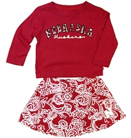 Nebraska Toddler Girls Birdie Skirt Set Nebraska Cornhuskers, Nebraska  Childrens, Huskers  Childrens, Nebraska Nebraska Toddler Girls Birdie Skirt Set, Huskers Nebraska Toddler Girls Birdie Skirt Set