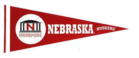 Nebraska Volleyball Pennant Flag Nebraska Cornhuskers, Nebraska  Flags & Windsocks, Huskers  Flags & Windsocks, Nebraska  Prints & Posters, Huskers  Prints & Posters, Nebraska Volleyball, Huskers Volleyball, Nebraska Nebraska Volleyball Pennant Flag, Huskers Nebraska Volleyball Pennant Flag