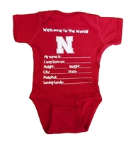 Nebraska Welcome To The World Newborn Creeper Nebraska Cornhuskers, Nebraska  Infant, Huskers  Infant, Nebraska Nebraska Welcome To The World Newborn Creeper, Huskers Nebraska Welcome To The World Newborn Creeper