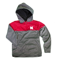 Nebraska Youth Colorblock Quarter Zip Hoodie Nebraska Cornhuskers, Nebraska  Youth, Huskers  Youth, Nebraska  Kids , Huskers  Kids , Nebraska Nebraska Youth Colorblock Quarter Zip Hoodie, Huskers Nebraska Youth Colorblock Quarter Zip Hoodie