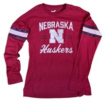 Nebraska Youth Gals Team Captain Glitter Slub Nebraska Cornhuskers, Nebraska  Youth, Huskers  Youth, Nebraska  Kids, Huskers  Kids, Nebraska Nebraska Youth Gals Team Captain Glitter Slub, Huskers Nebraska Youth Gals Team Captain Glitter Slub