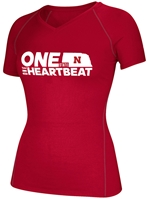 One State N One Heartbeat Give-Back Ladies Vneck Nebraska Cornhuskers, Nebraska  Long Sleeve, Huskers  Long Sleeve, Nebraska  Ladies, Huskers  Ladies, Nebraska  Tops, Huskers  Tops, Nebraska  T-Shirts, Huskers  T-Shirts, Nebraska One State N One Heartbeat Give-Back Ladies Vneck, Huskers One State N One Heartbeat Give-Back Ladies Vneck