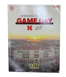 Phantom First Game Program - Akron 2018 Nebraska Cornhuskers, Coach Frost Autographed 2018 Spring Game Ticket