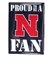 Proud Nebraska Fan Magnet Nebraska Cornhuskers, Nebraska Stickers Decals & Magnets, Huskers Stickers Decals & Magnets, Nebraska Proud Nebraska Fan Magnet, Huskers Proud Nebraska Fan Magnet