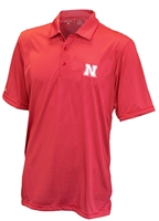 Red Stripe Short Sleeve Polo Antigua Nebraska Cornhuskers, Nebraska  Mens Polos, Huskers  Mens Polos, Nebraska Red Stripe SS Polo Ant, Huskers Red Stripe SS Polo Ant