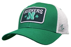 Shamrock Huskers N Trucker Nebraska Cornhuskers, Nebraska  Mens Hats, Huskers  Mens Hats, Nebraska  Mens Hats, Huskers  Mens Hats, Nebraska Holiday Items, Huskers Holiday Items, Nebraska Shamrock Huskers N Trucker, Huskers Shamrock Huskers N Trucker