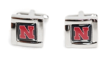Square Cuff Husker Links Nebraska Cornhuskers, Nebraska  Mens Accessories, Huskers  Mens Accessories, Nebraska  Mens, Huskers  Mens, Nebraska Square Cuff Links Aminco, Huskers Square Cuff Links Aminco