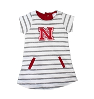 Toddler Gals Nebraska Striped French Terry Dress Nebraska Cornhuskers, Nebraska  Childrens, Huskers  Childrens, Nebraska Toddler Gals Nebraska Striped French Terry Dress, Huskers Toddler Gals Nebraska Striped French Terry Dress