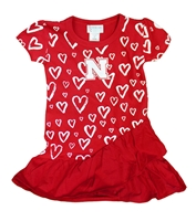 Toddler Girls Distressed Nebraska Heart Dress Nebraska Cornhuskers, Nebraska  Childrens, Huskers  Childrens, Nebraska Toddler Girls Distressed Nebraska Heart Dress, Huskers Toddler Girls Distressed Nebraska Heart Dress