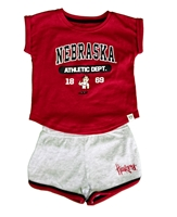 Toddler Girls Nebraska Athletics Short Set Nebraska Cornhuskers, Nebraska  Childrens, Huskers  Childrens, Nebraska Toddler Girls Nebraska Athletics Short Set, Huskers Toddler Girls Nebraska Athletics Short Set