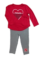 Toddler Girls Nebraska Sweetums Legging Set Nebraska Cornhuskers, Nebraska  Childrens, Huskers  Childrens, Nebraska Toddler Girls Nebraska Sweetums Legging Set, Huskers Toddler Girls Nebraska Sweetums Legging Set