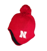 Toddler Nebraska Earflap Pom Hat Nebraska Cornhuskers, Nebraska  Childrens, Huskers  Childrens, Nebraska  Kids Hats, Huskers  Kids Hats, Nebraska Toddler Nebraska Earflap Pom Hat, Huskers Toddler Nebraska Earflap Pom Hat
