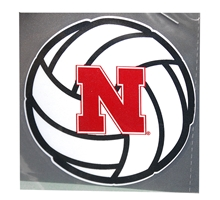 Volleyball N Logo Decal Nebraska Cornhuskers, Nebraska Vehicle, Huskers Vehicle, Nebraska Stickers Decals & Magnets, Huskers Stickers Decals & Magnets, Nebraska Volleyball, Huskers Volleyball, Nebraska Volleyball N Logo Decal, Huskers Volleyball N Logo Decal