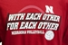 With Each Other Huskers Volleyball Tee - AT-D1582