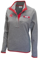 Women Columbia Pull Over Fleece Nebraska Cornhuskers, Nebraska  Ladies Outerwear, Huskers  Ladies Outerwear, Nebraska  Ladies , Huskers  Ladies , Nebraska WMN NE Pearl Plush Fleece, Huskers WMN NE Pearl Plush Fleece