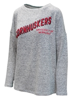 Womens Brushed Cornhuskers Crewneck Nebraska Cornhuskers, Nebraska  Ladies Tops, Huskers  Ladies Tops, Nebraska  Ladies Sweatshirts, Huskers  Ladies Sweatshirts, Nebraska  Ladies, Huskers  Ladies, Nebraska Womens Brushed Cornhuskers Crewneck , Huskers Womens Brushed Cornhuskers Crewneck