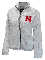 Womens Frosty Husker Sherpa Jacket Nebraska Cornhuskers, Nebraska  Ladies Outerwear, Huskers  Ladies Outerwear, Nebraska  Ladies, Huskers  Ladies, Nebraska Womens Frosty Husker Sherpa Jacket, Huskers Womens Frosty Husker Sherpa Jacket