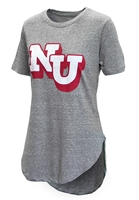 Womens Grey Knobi Rounded Tee Pressbox Nebraska Cornhuskers, Nebraska  Ladies Tops, Huskers  Ladies Tops, Nebraska  Ladies T-Shirts, Huskers  Ladies T-Shirts, Nebraska  Ladies, Huskers  Ladies, Nebraska Womens Grey Knobi Rounded Tee Pressbox, Huskers Womens Grey Knobi Rounded Tee Pressbox