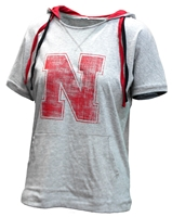 Womens Husker Whoopah Hooded Tee Nebraska Cornhuskers, Nebraska  Ladies T-Shirts, Huskers  Ladies T-Shirts, Nebraska  Ladies, Huskers  Ladies, Nebraska  Short Sleeve, Huskers  Short Sleeve, Nebraska Womens Husker Whoopah Hooded Tee, Huskers Womens Husker Whoopah Hooded Tee