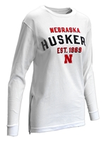 Womens Huskers Established LS Zip Tee Nebraska Cornhuskers, Nebraska  Ladies Tops, Huskers  Ladies Tops, Nebraska  Ladies T-Shirts, Huskers  Ladies T-Shirts, Nebraska  Ladies, Huskers  Ladies, Nebraska  Long Sleeve, Huskers  Long Sleeve, Nebraska Womens Huskers Established LS Zip Tee, Huskers Womens Huskers Established LS Zip Tee