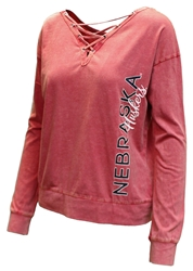 Womens Huskers Huzzah Two Way LS Tee Nebraska Cornhuskers, Nebraska  Ladies T-Shirts, Huskers  Ladies T-Shirts, Nebraska  Ladies, Huskers  Ladies, Nebraska  Long Sleeve, Huskers  Long Sleeve, Nebraska Womens Huskers Huzzah Two Way LS Tee, Huskers Womens Huskers Huzzah Two Way LS Tee