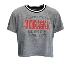 Womens Huskers Property Ringer Crop Nebraska Cornhuskers, Nebraska  Short Sleeve, Huskers  Short Sleeve, Nebraska  Ladies, Huskers  Ladies, Nebraska  Ladies T-Shirts, Huskers  Ladies T-Shirts, Nebraska Womens Huskers Property Ringer, Huskers Womens Huskers Property Ringer