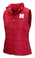 Womens Huskers Packable In-Tote Vest Nebraska Cornhuskers, Nebraska  Ladies, Huskers  Ladies, Nebraska  Ladies Outerwear, Huskers  Ladies Outerwear, Nebraska Womens Huskers String Theory Vest, Huskers Womens Huskers String Theory Vest