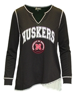 Womens Huskers Top Notch LS Nebraska Cornhuskers, Nebraska  Ladies Tops, Huskers  Ladies Tops, Nebraska Womens Huskers Top Notch LS, Huskers Womens Huskers Top Notch LS