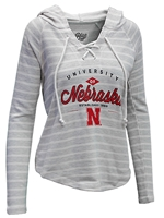 Womens NU Lace Up Terry Hoodie Nebraska Cornhuskers, Nebraska  Ladies, Huskers  Ladies, Nebraska  Hoodies, Huskers  Hoodies, Nebraska  Ladies Sweatshirts, Huskers  Ladies Sweatshirts, Nebraska Womens NU Lace Up Terry Hoodie, Huskers Womens NU Lace Up Terry Hoodie