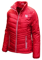 Womens Nebraska Cutter N Buck Puffer Jacket Nebraska Cornhuskers, Nebraska  Ladies, Huskers  Ladies, Nebraska  Ladies Outerwear, Huskers  Ladies Outerwear, Nebraska Womens Nebraska Barlow Pass Puffer Jacket, Huskers Womens Nebraska Barlow Pass Puffer Jacket