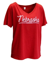 Womens Nebraska Fleck V-Neck Tee Nebraska Cornhuskers, Nebraska  Ladies Tops, Huskers  Ladies Tops, Nebraska  Ladies T-Shirts, Huskers  Ladies T-Shirts, Nebraska  Ladies, Huskers  Ladies, Nebraska Womens Nebraska Fleck V-Neck Tee, Huskers Womens Nebraska Fleck V-Neck Tee